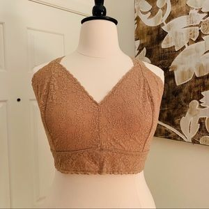 Cacique Beige Stretch Lace Bralette